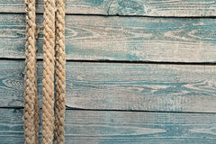 Background texture of grained, scratched, grunge wood board and Stock Images