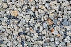 Background and texture of gray granite gravel. Background of gray granite gravel Stock Photo