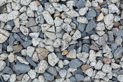 Background and texture of gray granite gravel Stock Photo