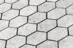 Background texture of gray honeycomb cobblestone Royalty Free Stock Photo