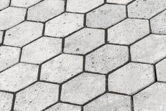Background texture of gray honeycomb cobblestone Royalty Free Stock Photo