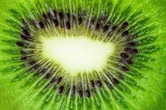 Background texture Green fruit kiwi close up.  Stock Photos