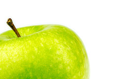 Background texture of green granny smith apple Stock Photo