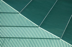 Background texture of a green roof. Background texture of a green conference center roof Stock Photos