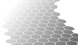 Background texture honeycomb gray Stock Image