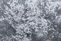 The background texture of ice crystals. Icy pattern, in winter Stock Photo