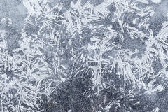 The background texture of ice crystals. Icy pattern, in winter Stock Photography