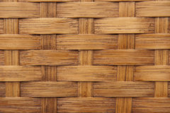 Background texture of light brown woven bamboo Stock Images