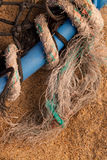 Background Texture - Lobster Pot, Net & Rope. Royalty Free Stock Images