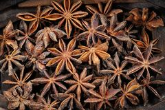 Background texture made of closeup star anise Royalty Free Stock Photos