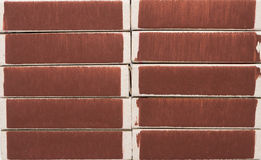 Background texture from matchboxes Stock Images