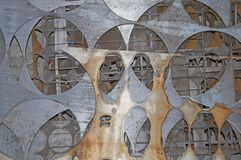 Background and texture of metal. Chaotic abstract geometry royalty free stock photography