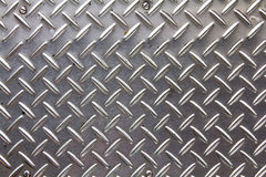 Background texture of metal diamond plate. Royalty Free Stock Photos