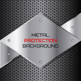 Background texture. Metal protection. Vector illustration Stock Photo