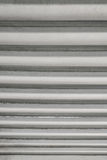 Background. Texture of metal straight horizontal lines with defects. Vertical frame Stock Photography