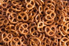 Background texture of mini pretzels Stock Image