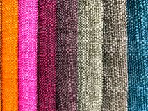 Background and texture of multi-colored fabrics. Studio Photo Royalty Free Stock Photo