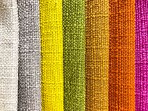 Background and texture of multi-colored fabrics. Studio Photo Royalty Free Stock Image