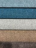 Background and texture of multi-colored fabrics. Studio Photo Stock Photo