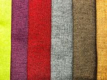 Background and texture of multi-colored fabrics. Studio Photo Stock Photography