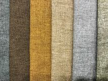 Background and texture of multi-colored fabrics. Studio Photo Royalty Free Stock Images