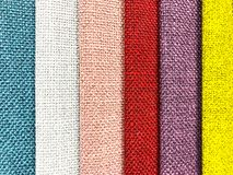 Background and texture of multi-colored fabrics. Studio Photo Royalty Free Stock Photos