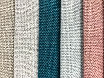 Background and texture of multi-colored fabrics. Studio Photo Royalty Free Stock Photography