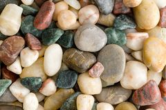 Background texture of natural beach pebbles royalty free stock image
