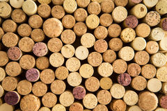 Background texture of neatly arranged corks Royalty Free Stock Images