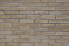 Background texture ocher brick wall Royalty Free Stock Image