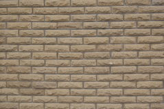 Background texture ocher brick wall Decorative Royalty Free Stock Image