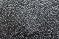 Background and  texture of old black leather Royalty Free Stock Photos