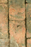 Background texture old brick weathered. A long time Royalty Free Stock Photography