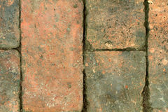 Background texture old brick weathered. A long time Stock Photography