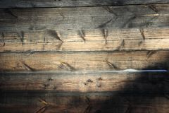 Background texture. Old brown wooden wall ,made of boards royalty free stock image