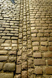 Background texture of old cobblestones Stock Photos