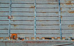 Background and texture of an old iron ladder Royalty Free Stock Image