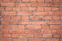 Background texture of an old red brick wall Royalty Free Stock Photos