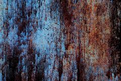 Background, texture of old rusty iron in horror style. Stock Image