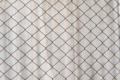 Background texture of an old rusty mesh Rabitz Stock Image