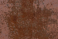 Background. The texture of the old rusty metal plate with cracked paint Royalty Free Stock Photos