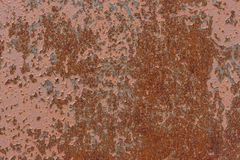 Background. The texture of the old rusty metal plate with cracked paint Royalty Free Stock Photography