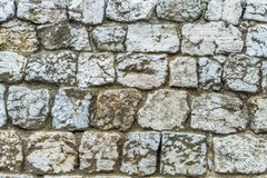 Background texture old stone wall. Background texture of an old stone wall protecting the castle Royalty Free Stock Photo