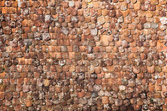 Old roof shingles Royalty Free Stock Photo