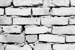 Background texture of a old white brick wall Royalty Free Stock Images