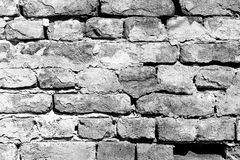 Background texture of a old white brick wall Stock Photography