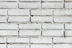 Background texture of a old white brick wall Royalty Free Stock Photos
