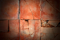 Background texture orange broken brown. Cement Stock Images