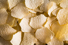 Background texture of oven baked potato chips Stock Image