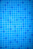 Background texture and pattern of blue mosaics Royalty Free Stock Photos